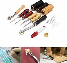 13Teile/Set DIY Leder Craft Nähen Tools Leder
