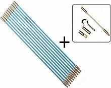 13 teiliges Set Kabel Verlegewerkzeug 10m aus glasfaserverstärktem Polyesther