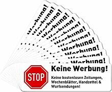 13 x Keine Werbung Aufkleber für Briefkasten (6,7