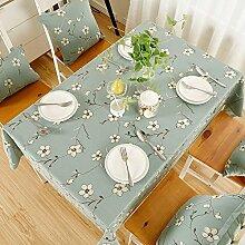 130* 180cm hellblau floral Stickerei Country minimalistisch Instagram Esstisch Tuch Baumwolle Leinen Garten Picknick quadratisch, rechteckig Umweltfreundlich,