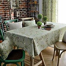 130* 200cm hellblau floral Cottage skandinavischen Instagram Esstisch Tuch Baumwolle Leinen Garten Picknick quadratisch, rechteckig Umweltfreundlich,