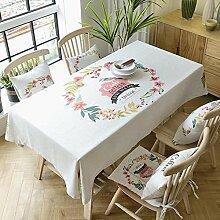130* 220cm beige Vogel Blatt skandinavischen Cottage Instagram Esstisch Tuch Baumwolle Leinen Garten Picknick quadratisch, rechteckig Umweltfreundlich,