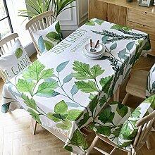 130* 220cm grün Leaf skandinavischem minimalistischen Instagram Esstisch Tuch Baumwolle Leinen Garten Picknick quadratisch, rechteckig Umweltfreundlich,