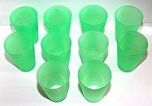 130 Plastik Trinkbecher 0,4 l - grün - Mehrwegtrinkbecher/Partybecher/Becher