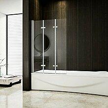 130x140cm Badewannenaufsatz Duschabtrennung