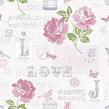 133504 - Sonett Handschrift Lila Musical Notes Wallpaper