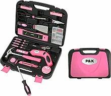 135 Teiliges  Werkzeugset Werkzeugkoffer in Pink