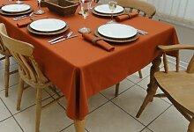 139,7x 248,9cm Terracotta Rechteck Tischdecke (8-Sitzer)