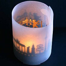 13gramm Berlin-Skyline Windlicht Souvenir in der