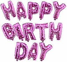 13tlg HAPPYBIRTHDAY Buchstabe Folienballon