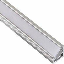 (14,95 €/m) Aluprofil 2m Aufbau Aluminium