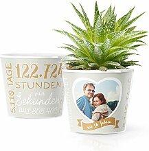 14. Hochzeitstag Geschenk – Blumentopf (ø16cm)