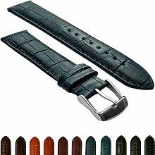 14mmladies echtes Leder Mock Croc Armbanduhr