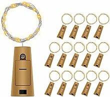 14 Stück LED Warmweiß Flaschenlicht, BizoeRade