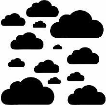 14 Wolken Set - Wolke Wandtattoo Wandaufkleber