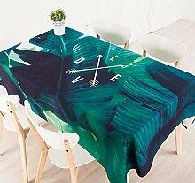 140*100cm Grün blatt Skandinavisch modern Instagram Tischdecken Baumwolle leinen Picknick Esstisch rechteckigen quadrat nicht bügeln umweltfreundlich Tischtuch