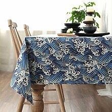 140* 140Beige Floral Bird Instagram Tisch Tuch Baumwolle Leinen Esstisch Garten Picknick quadratisch, rechteckig Umweltfreundlich,