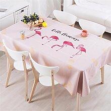 140*140cm Rosa flamingo modern Minimalistisch Instagram Tischdecken Baumwolle leinen Esstisch Rezeption rechteckigen quadrat nicht bügeln umweltfreundlich Tischtuch