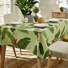 140* 180cm grün Leaf skandinavischen Cottage Instagram Tisch Tuch Baumwolle Leinen Esstisch Garten Picknick quadratisch, rechteckig Umweltfreundlich,