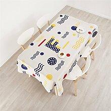 140*180cm beige Gekritzel PopArt Instagram Tischdecken Baumwolle leinen Esstisch Rezeption rechteckigen quadrat nicht bügeln umweltfreundlich Tischtuch