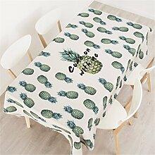 140*180cm beige Grün Ananas ins Instagram Tischdecken Baumwolle leinen Esstisch Rezeption rechteckigen quadrat nicht bügeln umweltfreundlich Tischtuch