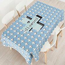 140*200cm blau Rautenmuster Kreuz Minimalistisch Modern Instagram Tischdecken Baumwolle leinen Esstisch rechteckigen quadrat nicht bügeln umweltfreundlich Tischtuch