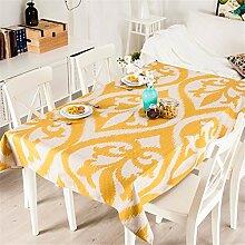 140*200cm gelb Geometrisch modern Minimalistisch Instagram Tischdecken Baumwolle leinen Esstisch Rezeption rechteckigen quadrat nicht bügeln umweltfreundlich Tischtuch