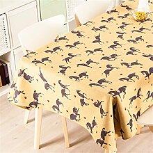 140*200cm gelb Pferd Europäisch Instagram Tischdecken Baumwolle leinen Esstisch Rezeption rechteckigen quadrat nicht bügeln umweltfreundlich Tischtuch