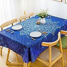 140* 240cm marineblau Aboriginal Floral