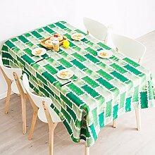 140*240cm Grün Modern Skandinavisch Instagram Tischdecken Baumwolle leinen Esstisch rechteckigen quadrat nicht bügeln umweltfreundlich Tischtuch