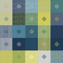 140x 250cm Tischdecke aus PVC/Vinyl, rechteckig–blau & grün Palette Karo