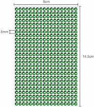 1404 Strasssteine selbstklebend Glitzersteine zum Aufkleben rund Glitzer Aufkleber 5mm groß Kristalle Dekosteine Bastelsteine grün