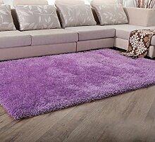 140CM × 200cm Fashion Home Teppich Schlafzimmer Teppich Umhüllen helle Seide Teppich Couchtisch Teppich Wohnzimmer Teppich Schwimmdock Fenster Decke ( Farbe : Bright Purple )