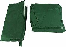 140x95cm Runde Form Wasserdicht Tischstuhl Möbel Abdeckungsschutz - Grün
