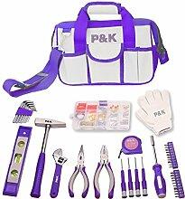 141 teiliges Werkzeugset lila Werkzeug Tasche Werkzeugkiste Geschenkideen