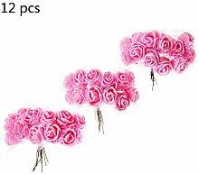144pcs Mini PE Rosen Blumenstrauß für