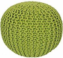 14559 Sitzball Sitzsack Baumwolle Handgemacht Apfelgrün 43 x 40 cm