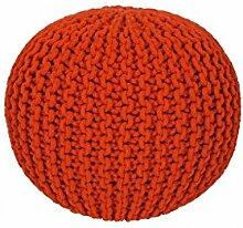 14562 Sitzball Sitzsack Baumwolle Handgemacht Orange 43 x 40 cm