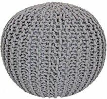 14564 Sitzball Sitzsack Baumwolle Handgemacht Silver Silber 43 x 40 cm