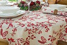 149,9cm Durchmesser rund Weihnachten Tischdecke mit Rot Berry und Kegel Design (4-Sitzer)