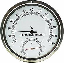 15,2cm Flansch Wandhalterung Edelstahl Sauna Raum hyprometer Thermometer-Hygrometer