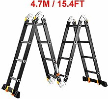 15.4ft klappbare Teleskopleiter, tragbare
