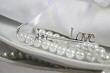 15 Secret Schlüssel Love am Band Aluminium-Zink-Legierung , silber ca. L:8,5cm/B:2,5cm/GL:21cm