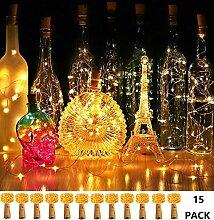 【15 Stück】20 LEDs 2M Flaschen Licht