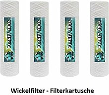15 x 10 Zoll Sediment Wasserfilter Kartusche mit 10 Mikron Ersatzfilter Sedimentfilter aus Polyprophylenschnur WICKEL Filter für die Umkehrosmose Osmoseanlage Filtergehäuse Trinkwasser Brunnen Aquarium Wasser