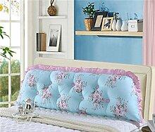 150 * 140cm Baumwollbett Sofa Große Kissen Baumwolle Doppelte lange Kissen Kissen Korean Bett Kopf mit Rückenlehne Core ( Farbe : # 4 )