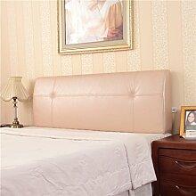 150 * 50 * 12cm Bett-weiches Beutel-alte Bekanntheits-Rückenlehnen-Kissen Neue Produkte können kundengebundenes Bett-Leder-einfaches Bett-Kissen sein ( Farbe : Champagner )
