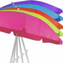 150 cm / 160 cm Sonnenschirm Strandschirm Schirm Gartenschirm (pink)