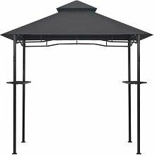 150 cm x 250 cm Grillpavillon Aaranyan aus Stahl