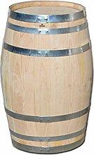 150 Liter Holzfas, neues Fass, Weinfas aus Kastanienholz geschlossen als Stehtisch, Bistrotisch (Fass unbehandelt)